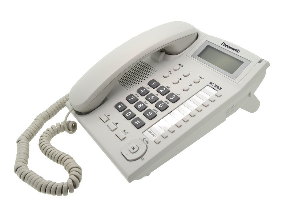 Σταθερό Ψηφιακό Τηλέφωνο Panasonic KX-TS880EXW Λευκό Υποδοχή Hands Free 2.5mm