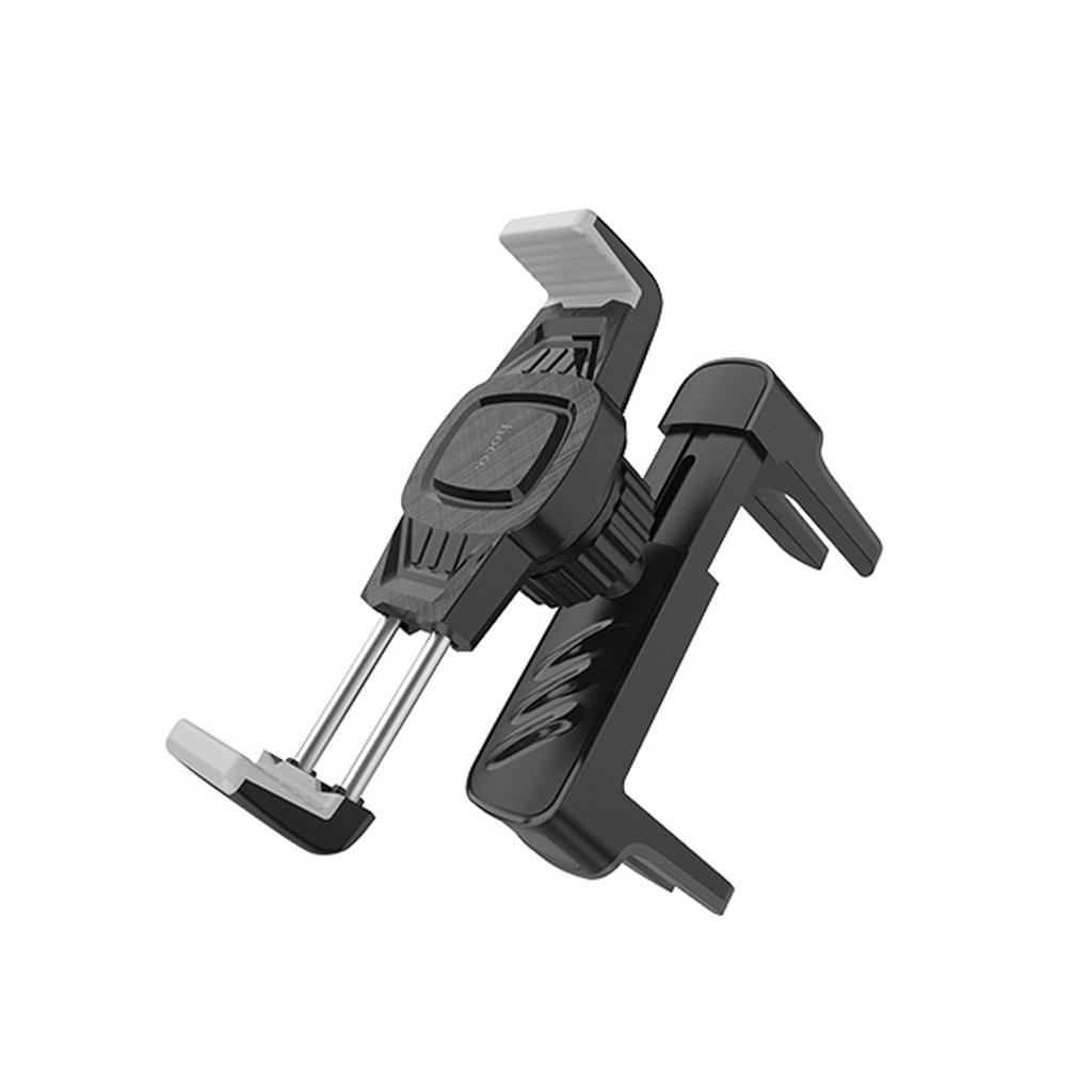 Βάση Στήριξης Αεραγωγού Αυτοκινήτου Hoco CA63 Royal Μαύρη - Ασημί