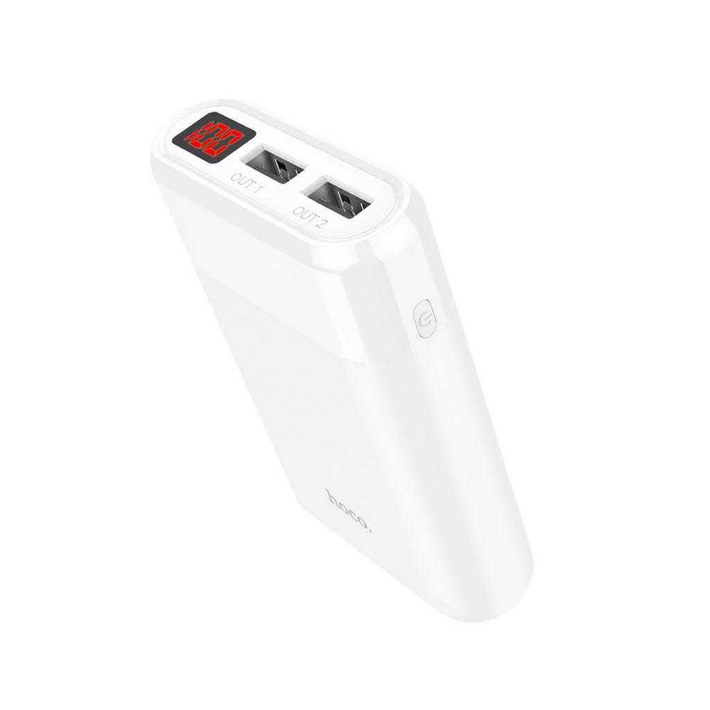 Power Bank Hoco B35B Entourage Mobile 8000 mAh Fast Charging με υποδοχή Micro-USB και 2 Θύρες USB Λευκό