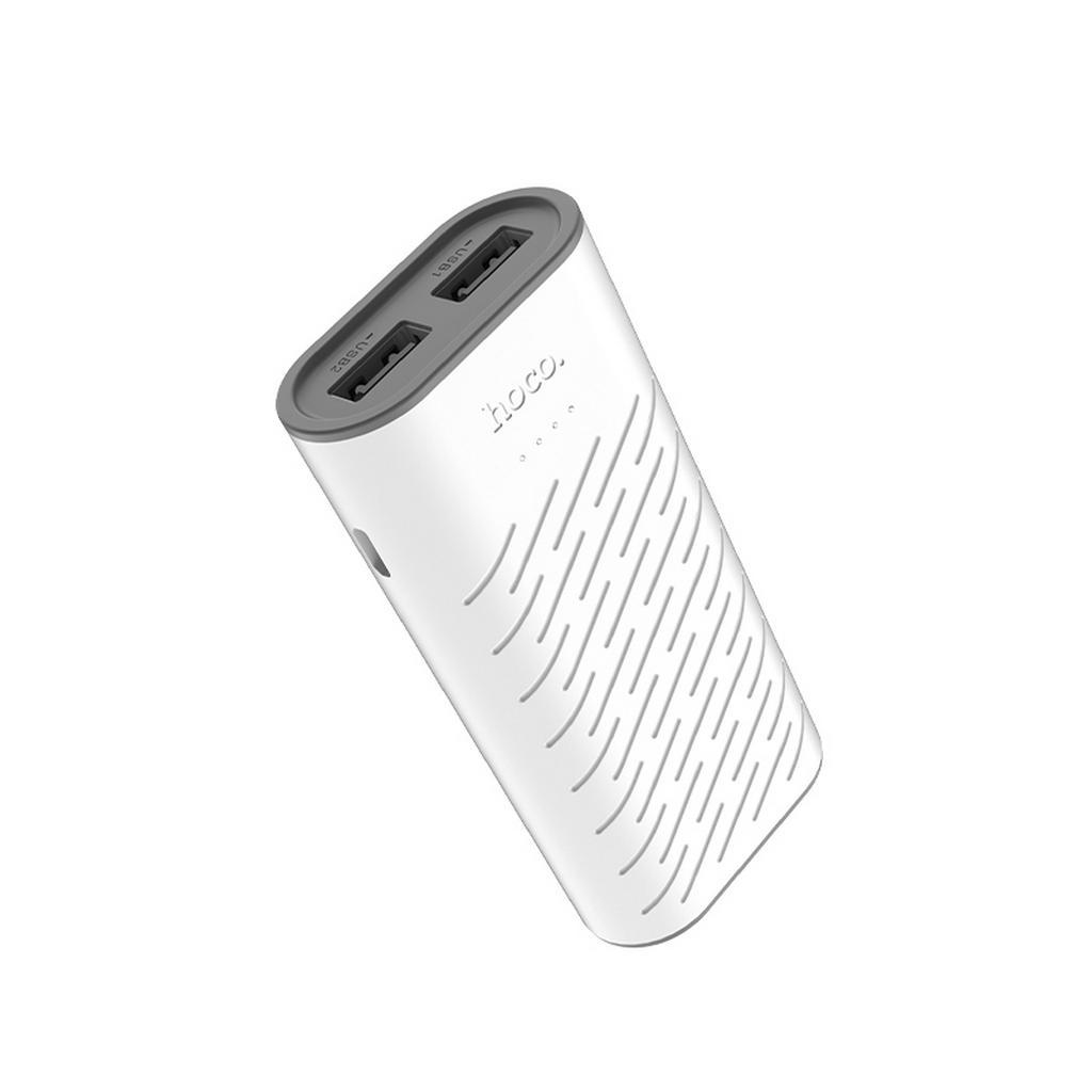 Power Bank Hoco B31C Sharp 5200 mAh Fast Charging με 2 Θύρες USB και LED Ένδειξη Λευκό