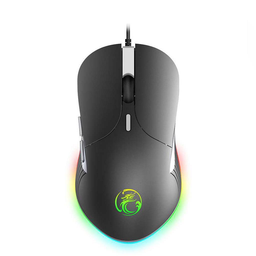 Ενσύρματο Ποντίκι iMICE X6 Gamer 6D με 6 Πλήκτρα, 3200 DPI και LED Φωτισμό. Μαύρο