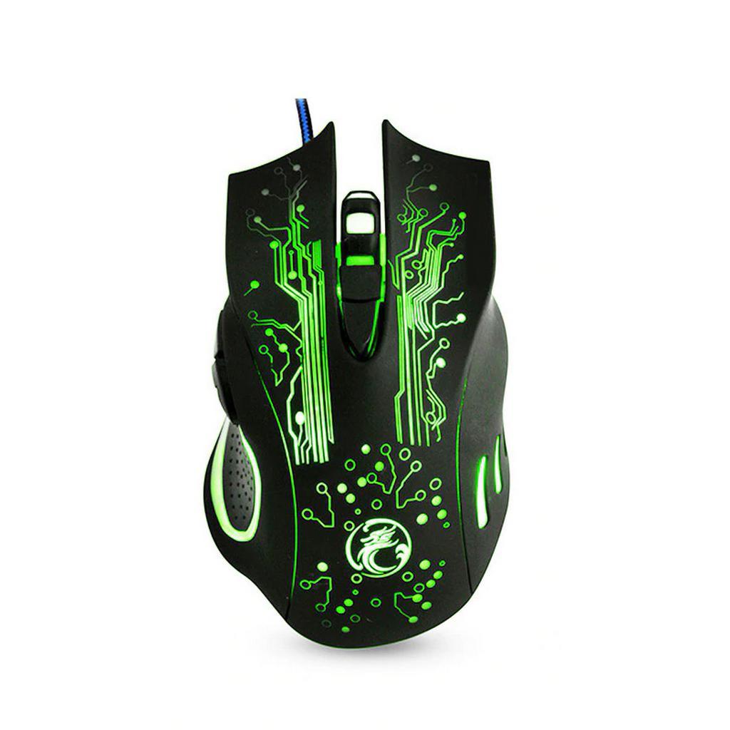 Ενσύρματο Ποντίκι iMICE X9 Gaming 6D με 6 Πλήκτρα, 2400 DPI και LED Φωτισμό. Μαύρο