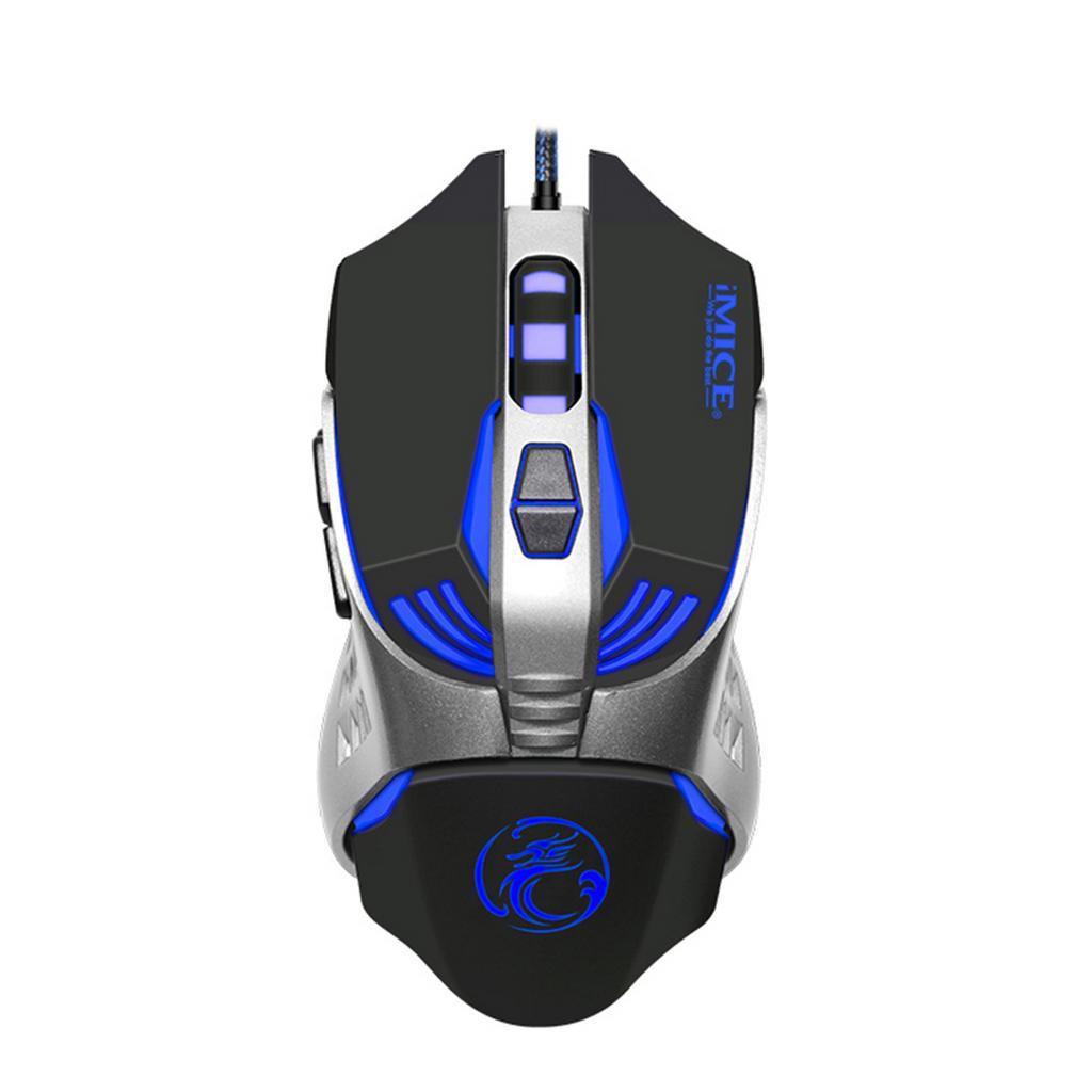 Ενσύρματο Ποντίκι iMICE V5 Gaming 7D με 7 Πλήκτρα, 3200 DPI, Πολυμεσικό και LED Φωτισμό. Μαύρο