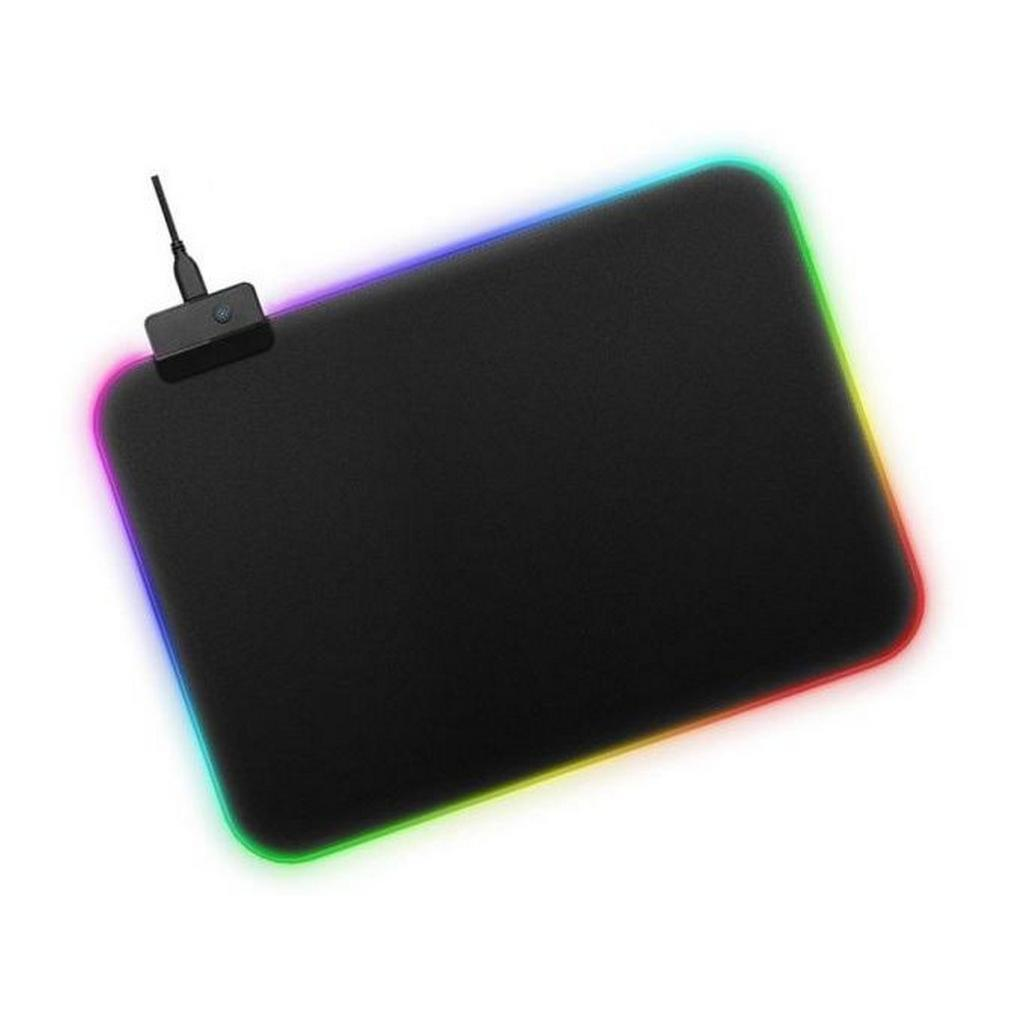 Mousepad iMICE GMS-WT5 Soft με RGB LED περιμετρικό φωτισμό 350x250mm Μαύρο