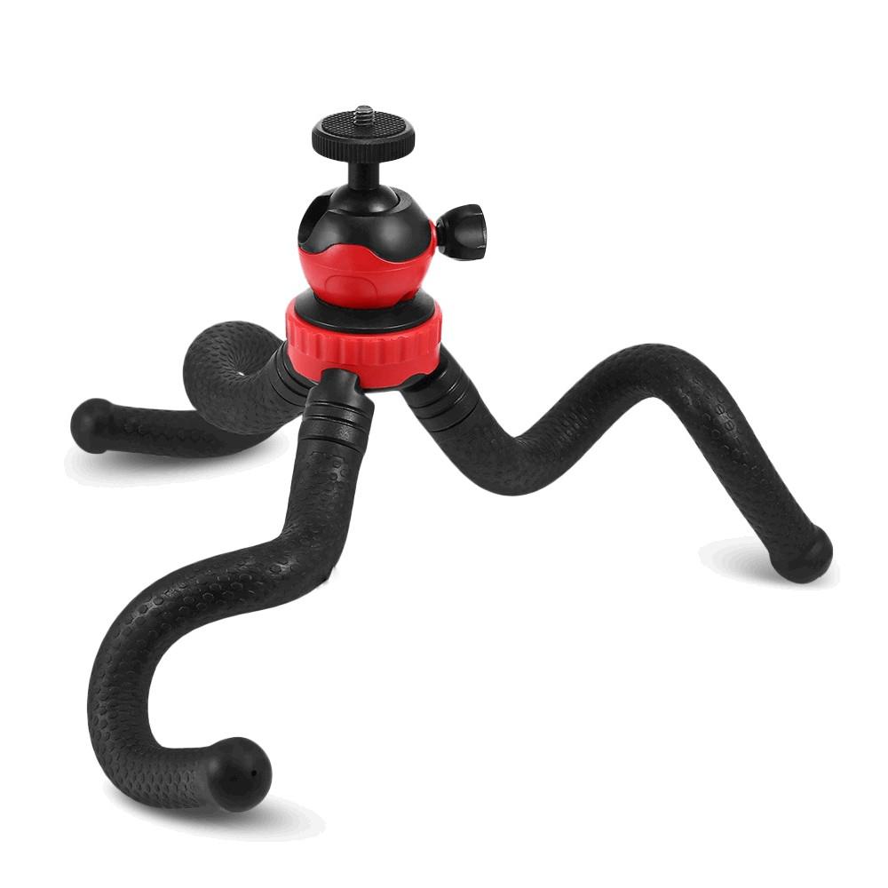 Selfie Stick Tripod Bluetooth LEDISTAR LDX-668 Suit για GoPro, Φωτογραφικές Μηχανές και Κινητά Τηλέφωνα με Εύκαμπτο Τρίποδα. Μαύρο Μήκος: 27x5cm