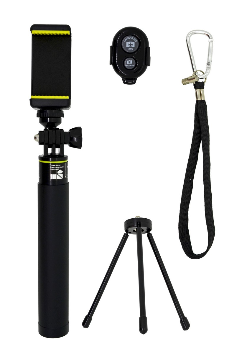 Selfie Stick Monopod Bluetooth LEDISTAR LDX-611 Suit για Φωτογραφικές Μηχανές και Κινητά Τηλέφωνα. Πτυσσόμενο Μαύρο Μήκος: 18cm-85cm