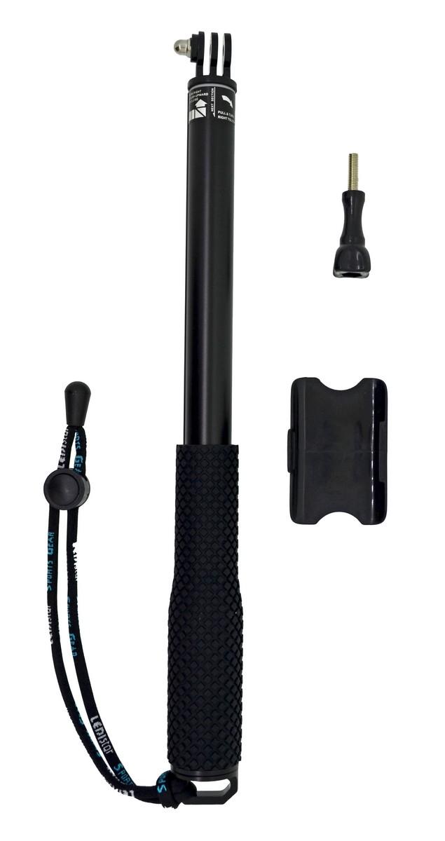 Selfie Stick Monopod Bluetooth LEDISTAR LDX-808 για GoPro, Φωτογραφικές Μηχανές και Κινητά Τηλέφωνα. Πτυσσόμενο Μαύρο (Μήκος Κονταριού 36cm, Μήκος Ανοίγματος 110cm)