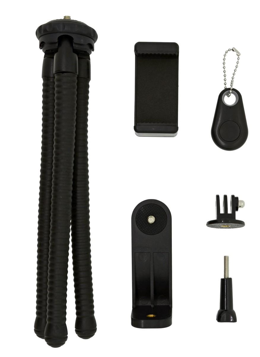 Selfie Stick Tripod Bluetooth LEDISTAR LDX-666 Suit για Φωτογραφικές Μηχανές και Κινητά Τηλέφωνα. Μαύρο Μήκος: 25cm