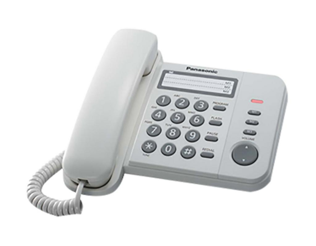 Σταθερό Ψηφιακό Τηλέφωνο Panasonic KX-TS520FXW Λευκό