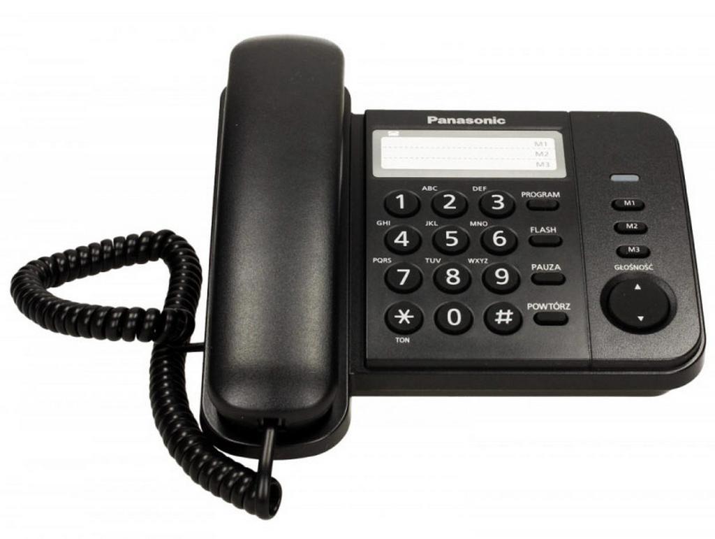 Σταθερό Ψηφιακό Τηλέφωνο Panasonic KX-TS520FXB Μαύρο