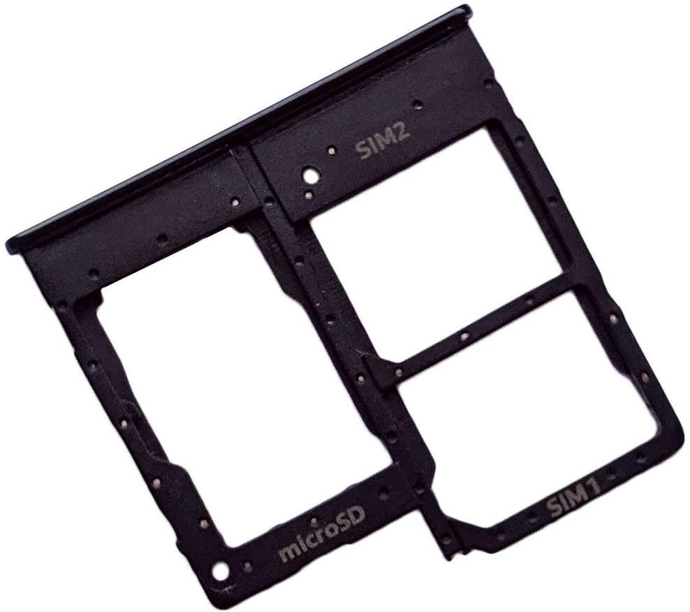 Βάση Κάρτας Sim Samsung SM-A207F/DS Galaxy A20 Μαύρο Original GH98-44377A