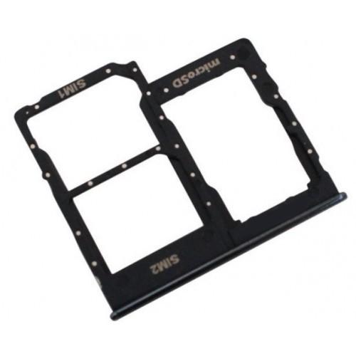 Βάση Κάρτας Sim Samsung SM-A405FN Galaxy A40 Μαύρο Original GH98-44303A