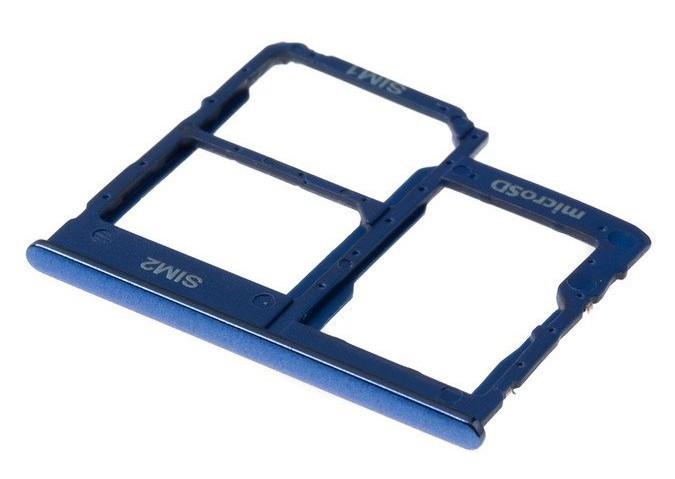 Βάση Κάρτας Sim Samsung SM-A405FN Galaxy A40 Μπλέ Original GH98-44303C