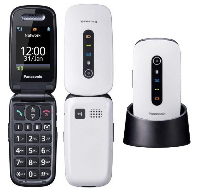 "Panasonic KX-TU466EXWE Λευκό 2.4"" με MicroSD, Bluetooth, Κάμερα, Μεγάλα Γράμματα, Πλήκτρο SOS και Λειτουργία Εντοπισμου Mεσω GPS"
