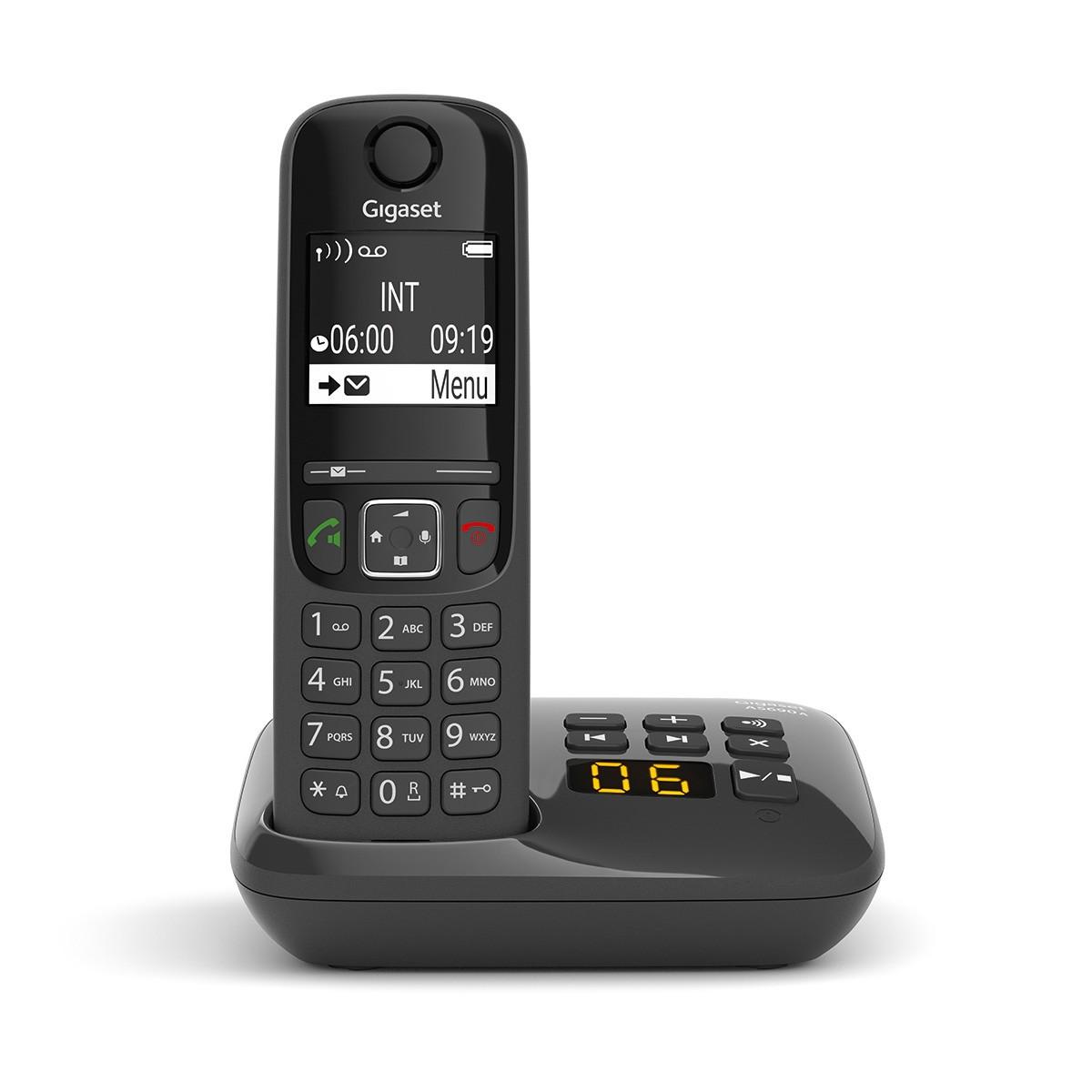 Ασύρματο Ψηφιακό Τηλέφωνο Gigaset AS690A Μαύρο με Αυτόματο Τηλεφωνητή