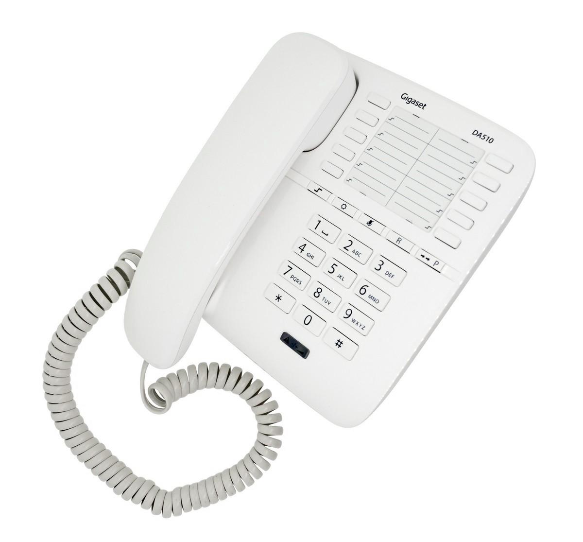 Σταθερό Ψηφιακό Τηλέφωνο Gigaset DA510 Λευκό Με Κλείδωμα Συσκευής