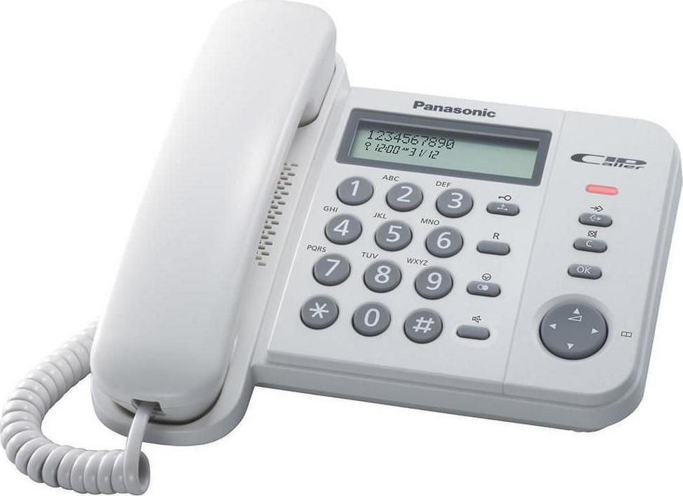 Σταθερό Ψηφιακό Τηλέφωνο Panasonic KX-TS580EX1W Λευκό με Ανοιχτή Συνομιλία