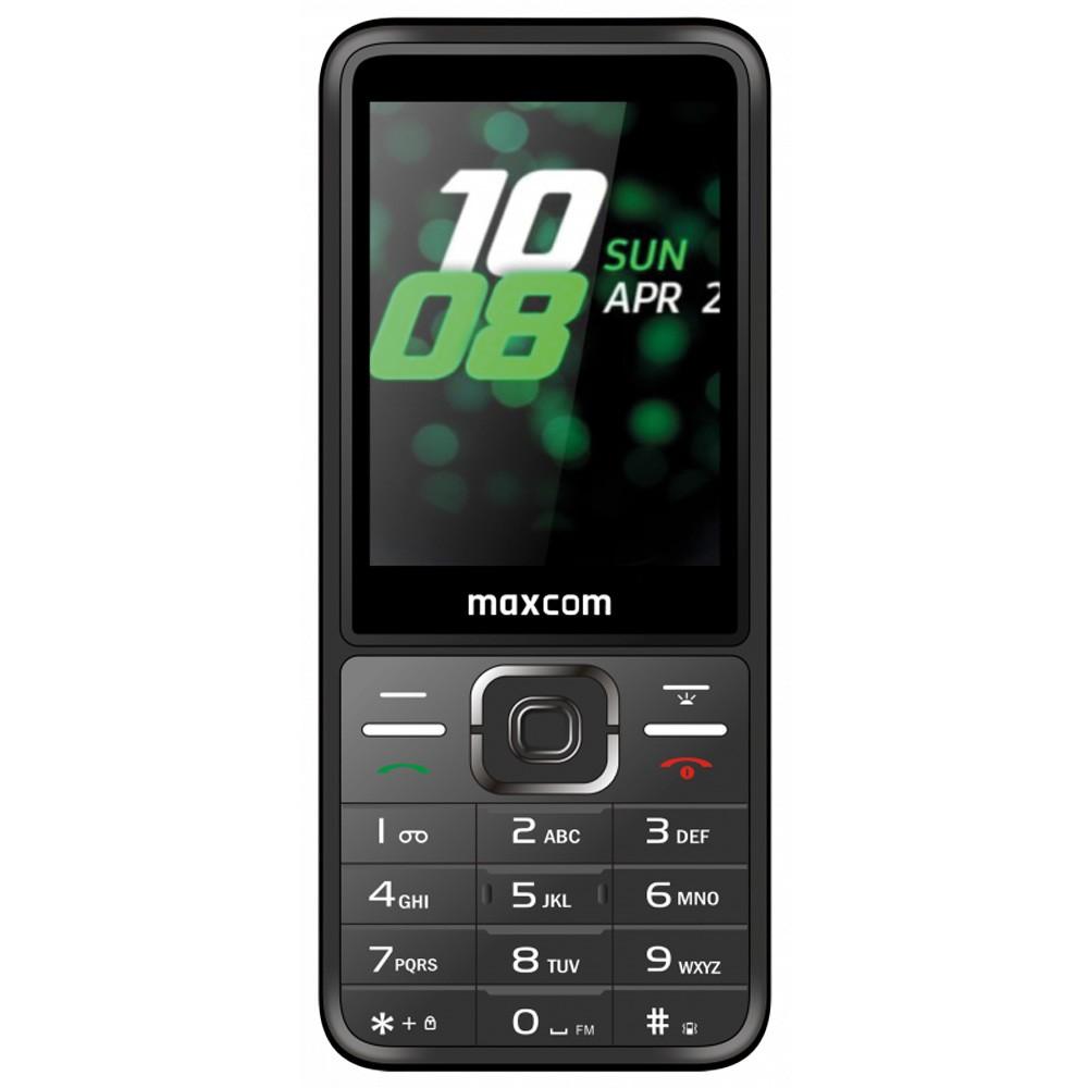 """Maxcom MM244 2.8"""" με Bluetooth, Ραδιόφωνο, Κάμερα, Φακό και Μεγάλα Γράμματα. Ασημί"""