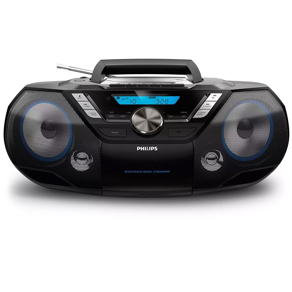 Ηχοσύστημα Philips 12W AZB798T/12 Μαύρο με MP3-CD, CD και CD-R/RW,Tηλεχειριστήριο  και Bluetooth