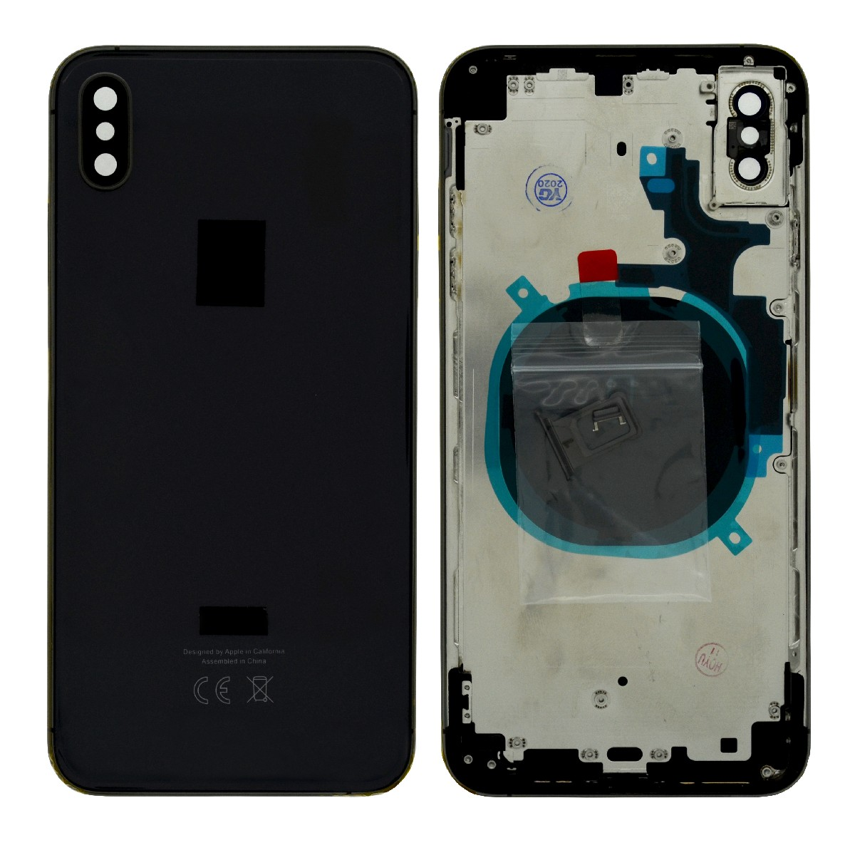 Καπάκι Μπαταρίας με Πλαίσιο για Apple iPhone XS Max Μαύρο με Παρελκόμενα OEM Type A