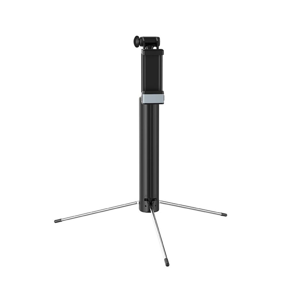 Selfie Stick Hoco K10A Magnificent Wireless Πτυσσόμενο Μαύρο με Ενσωματωμένο Φωτισμό και Τηλεχειριστήριο