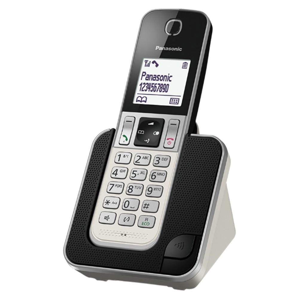 Ασύρματο Ψηφιακό Τηλέφωνο Panasonic KX-TGD310GRW με Λειτουργία Ενδοεπικοινωνίας και Baby Monitor Λευκό