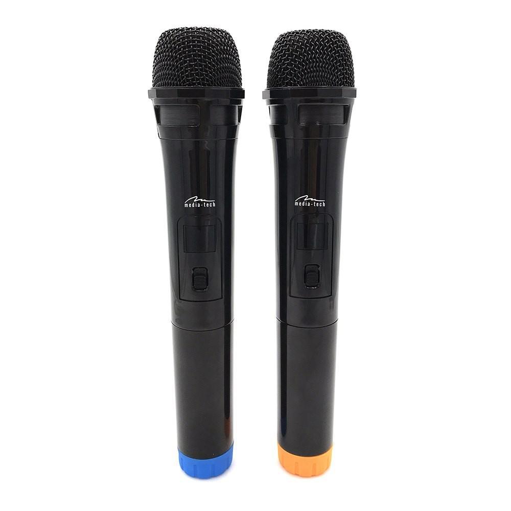 Διπλό Ασύρματο Μικρόφωνο Media-Tech MT395 Accent Pro Μαύρο με USB Receiver για Ηχεία Karaoke και Άλλες Συσκευές Ήχου