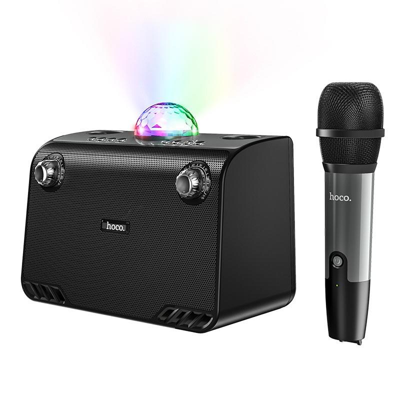 Φορητό Ηχείο Wireless Hoco BS41 Warm Sound Μαύρο V5.0 20W, 2400mAh, USB & AUX θύρα και Micro SD με Ασύρματο Μικρόφωνο