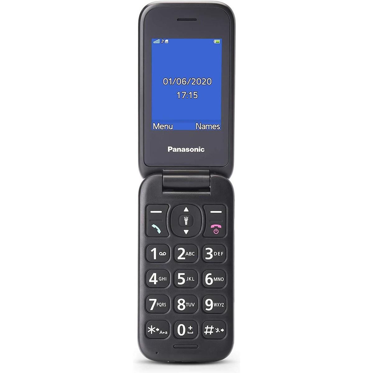 """Panasonic KX-TU400EXG Γκρι 2.4"""" με MicroSD, Bluetooth, Κάμερα, Μεγάλα Γράμματα και Πλήκτρο SOS"""