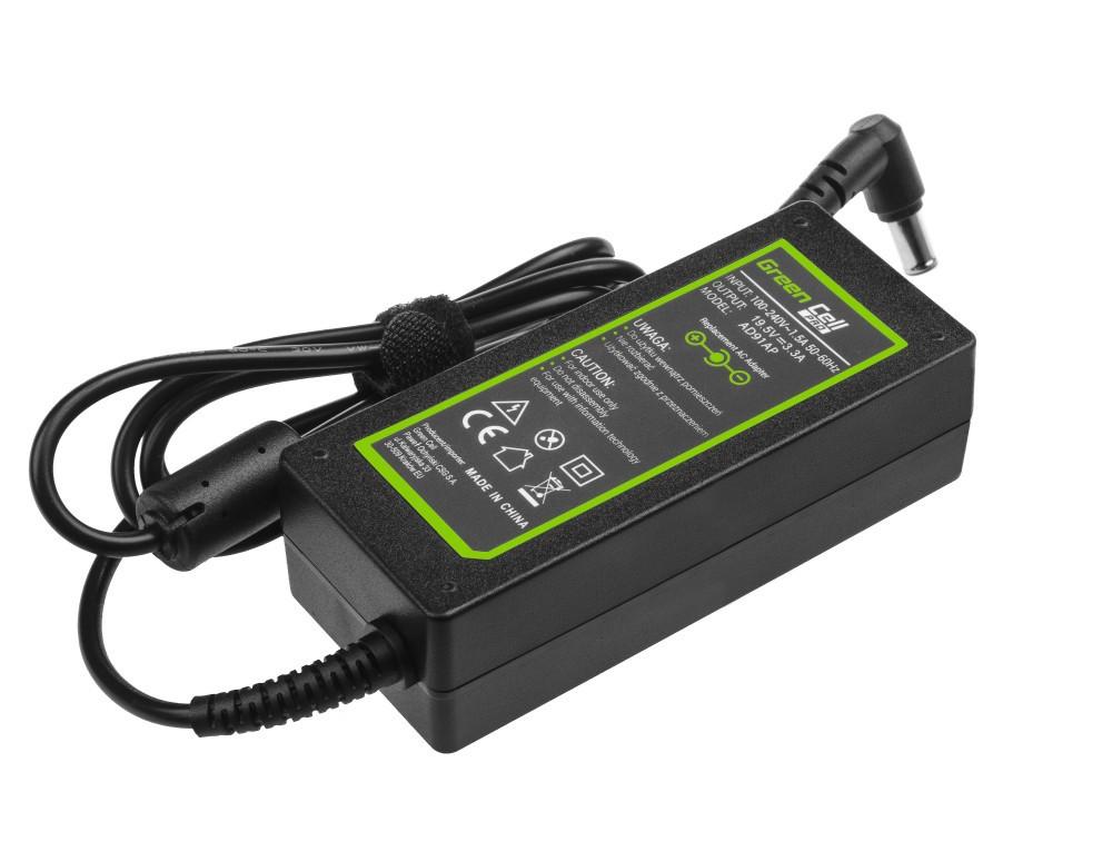 Τροφοδοτικό Laptop Green Cell PRO AD91AP Συμβατό με Sony Vaio 19.5V 3.34A 65W Κονέκτορας 6.5-4.4mm Καλώδιο 1.2m