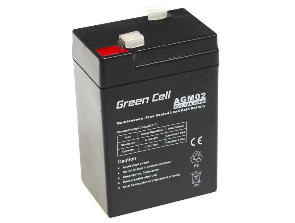Μπαταρία για UPS Green Cell AGM02 AGM (6V 4.5Ah) 0.74 kg 70mm x 47mm x 100mm