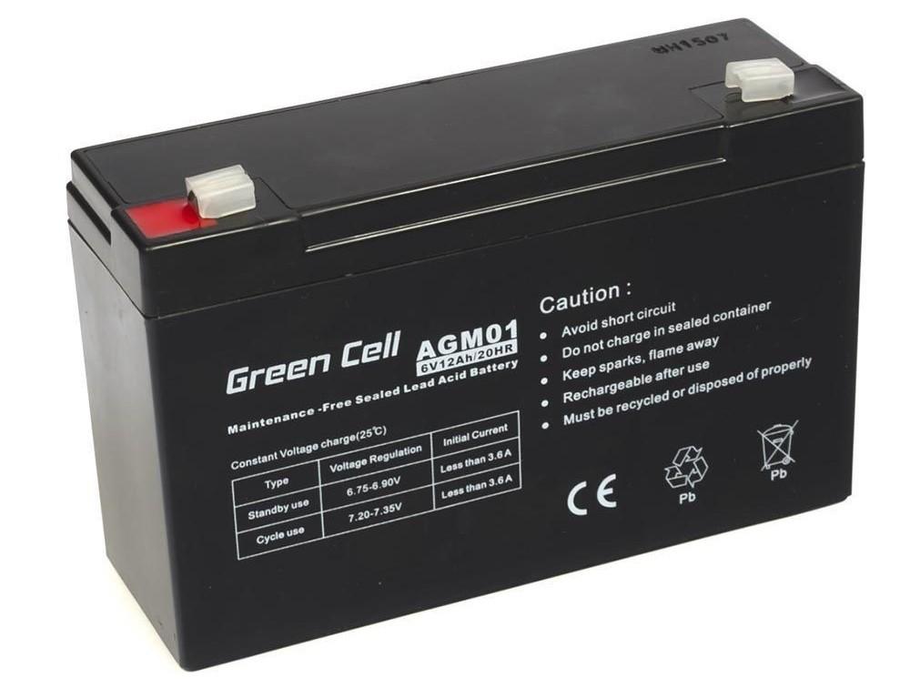 Μπαταρία για UPS Green Cell AGM01 AGM (6V 12Ah) 1.84kg 151mm x50mm x 94mm