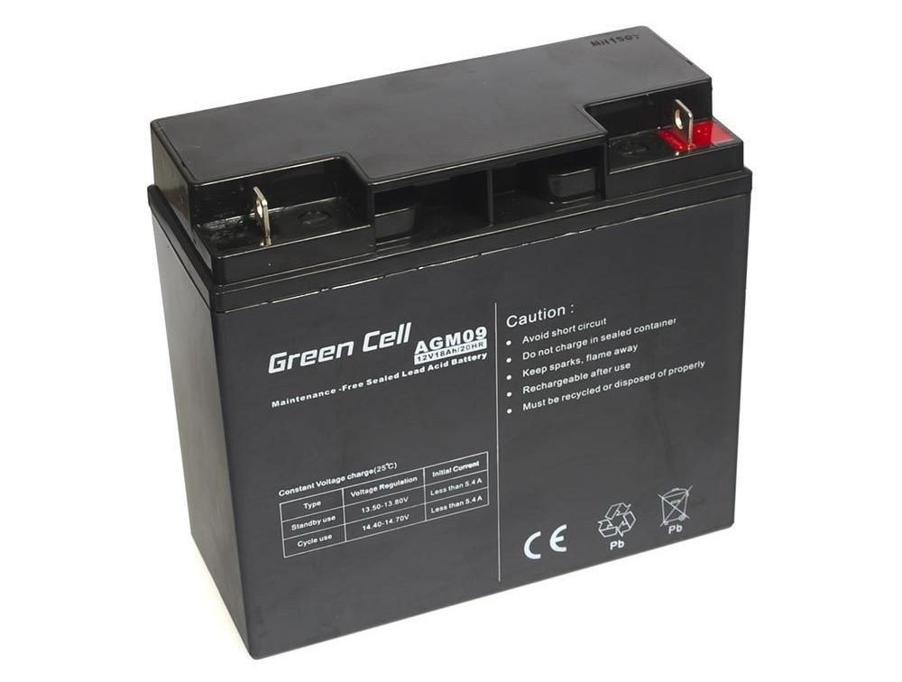 Μπαταρία για UPS Green Cell AGM09 AGM (12V 18Ah) 5,3 kg 181mm x 77mm x 167mm