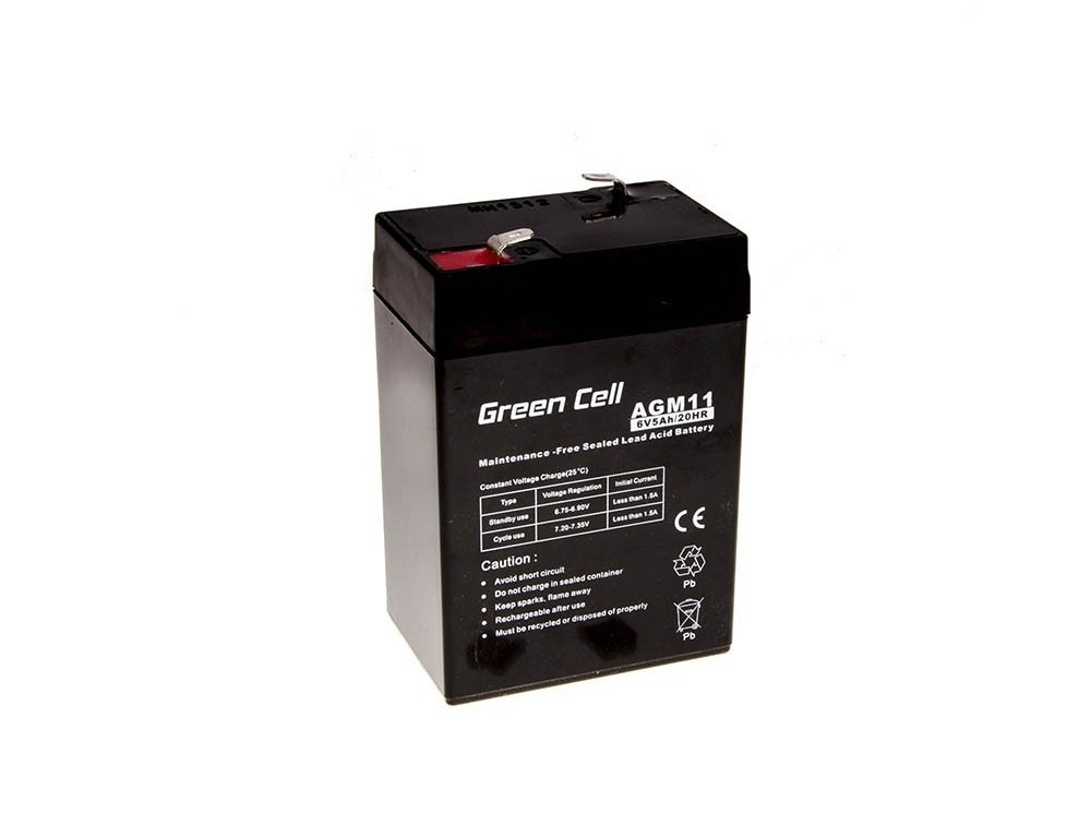 Μπαταρία για UPS Green Cell AGM11 AGM (6V 5Ah) 0,78 kg 70mm x 47mm x 100mm