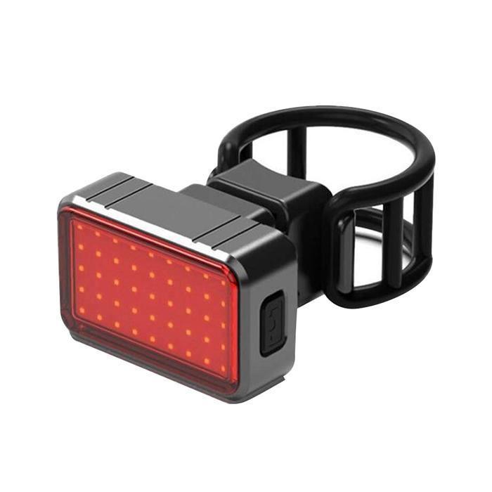 Φακός Ποδηλάτου Ancus BK820 με Πίσω Κόκκινο Φως LED 100 Lumens IPX8 και Φόρτιση με USB. Μαύρος