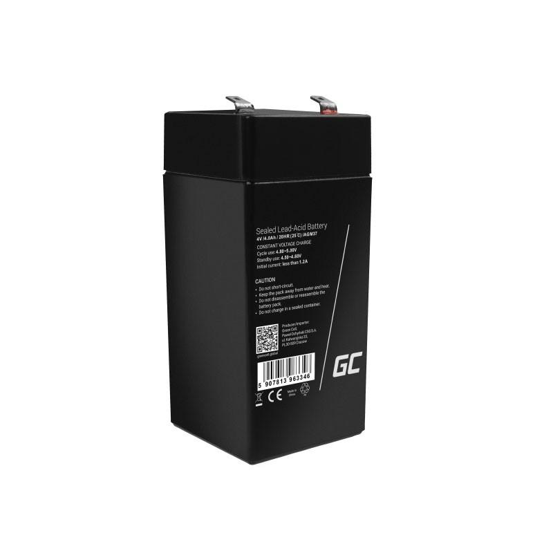 Μπαταρία για UPS Green Cell AGM36 AGM VRLA (4V 4.5Ah) 0,5 kg 48mm x 48mm x 102mm