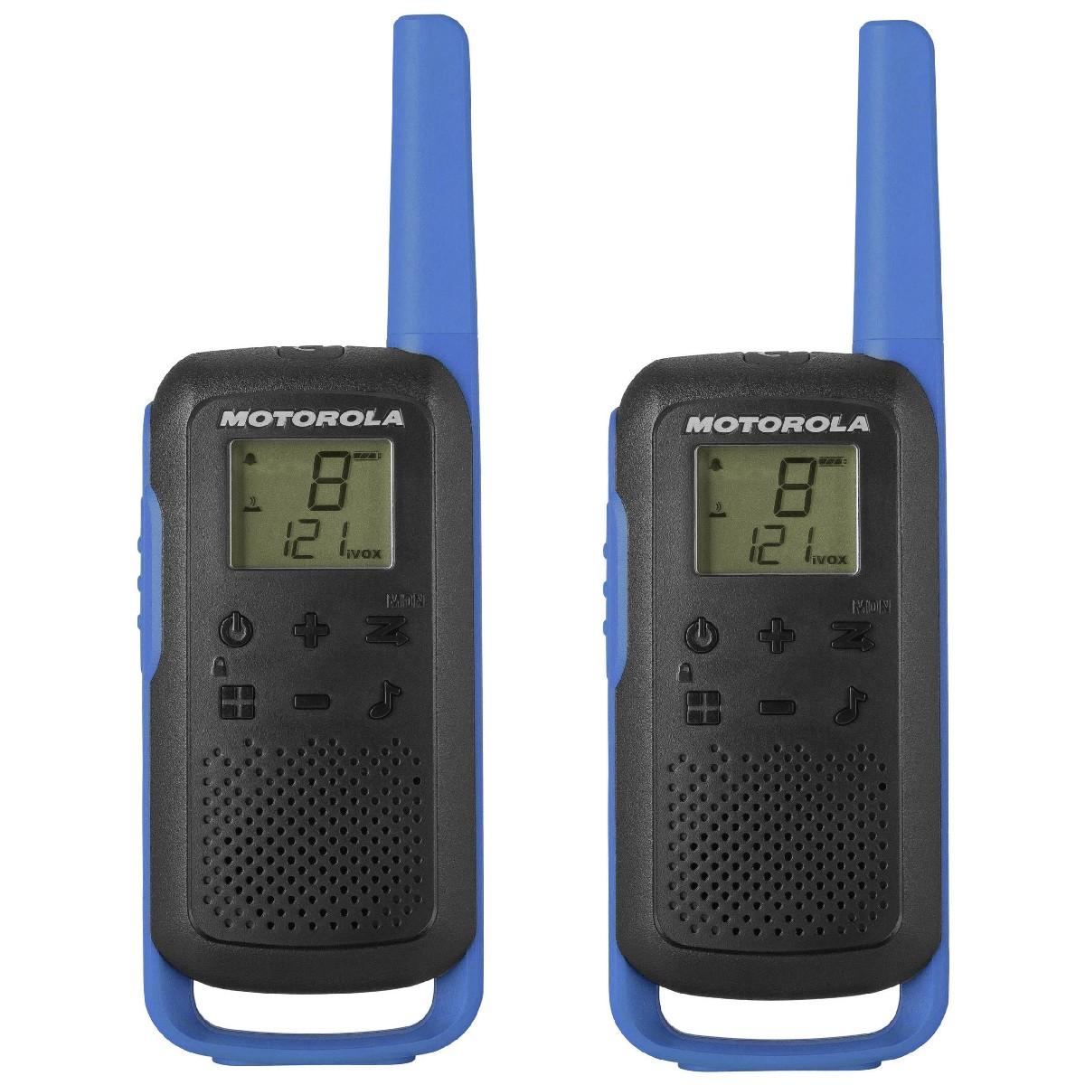 Walkie Talkie Motorola Go Discover PMR T62 με Υποδοχή Hands Free 2.5mm Μπλε. Εύρος Κάλυψης 8km