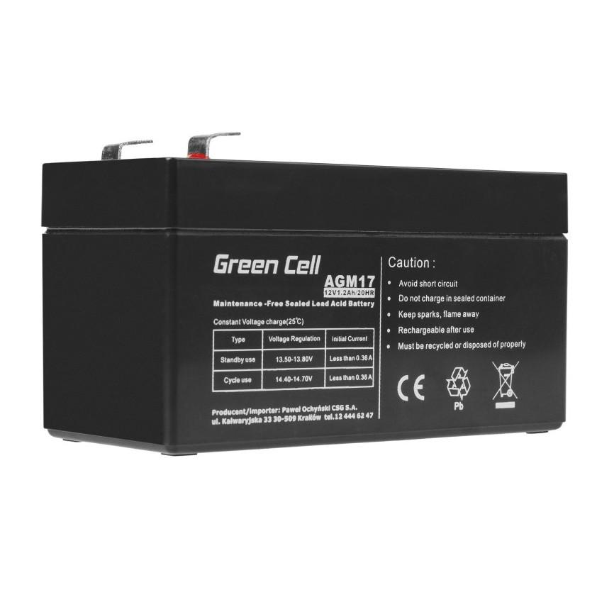 Μπαταρία για UPS Green Cell AGM17 AGM (12V 1.2Ah) 0.55 kg 97mm x 45mm x 57mm