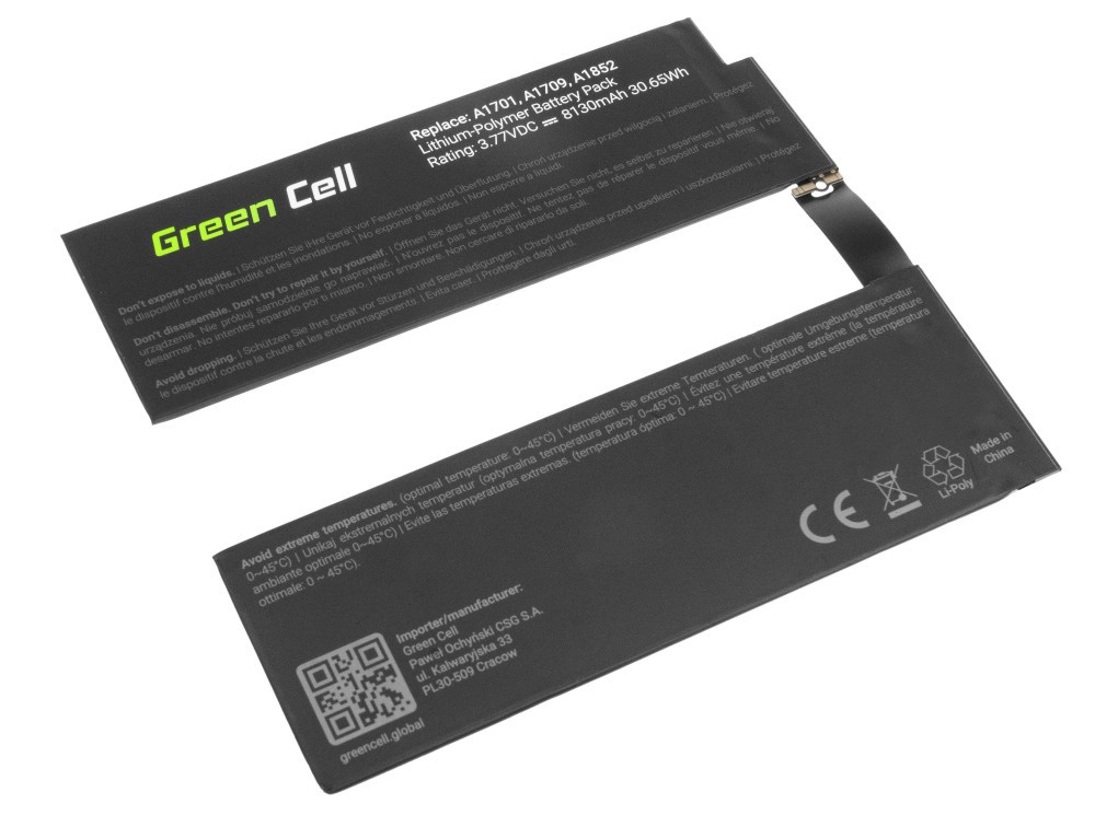 Μπαταρία Green Cell TAB15 για A1798 Apple iPad Pro 10.5 A1701 A1709 8130 mAh