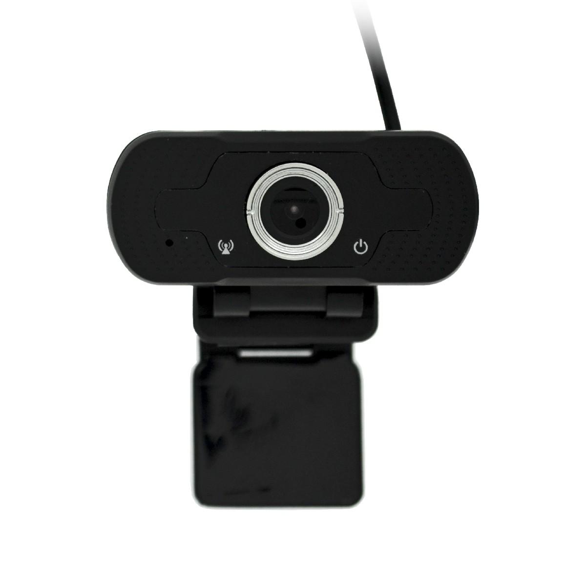 USB Webcam Mobilis W8-1 Full HD 1080P 1920X1080 με 2MP και Ενσωματωμένο Μικρόφωνο. Μαύρη