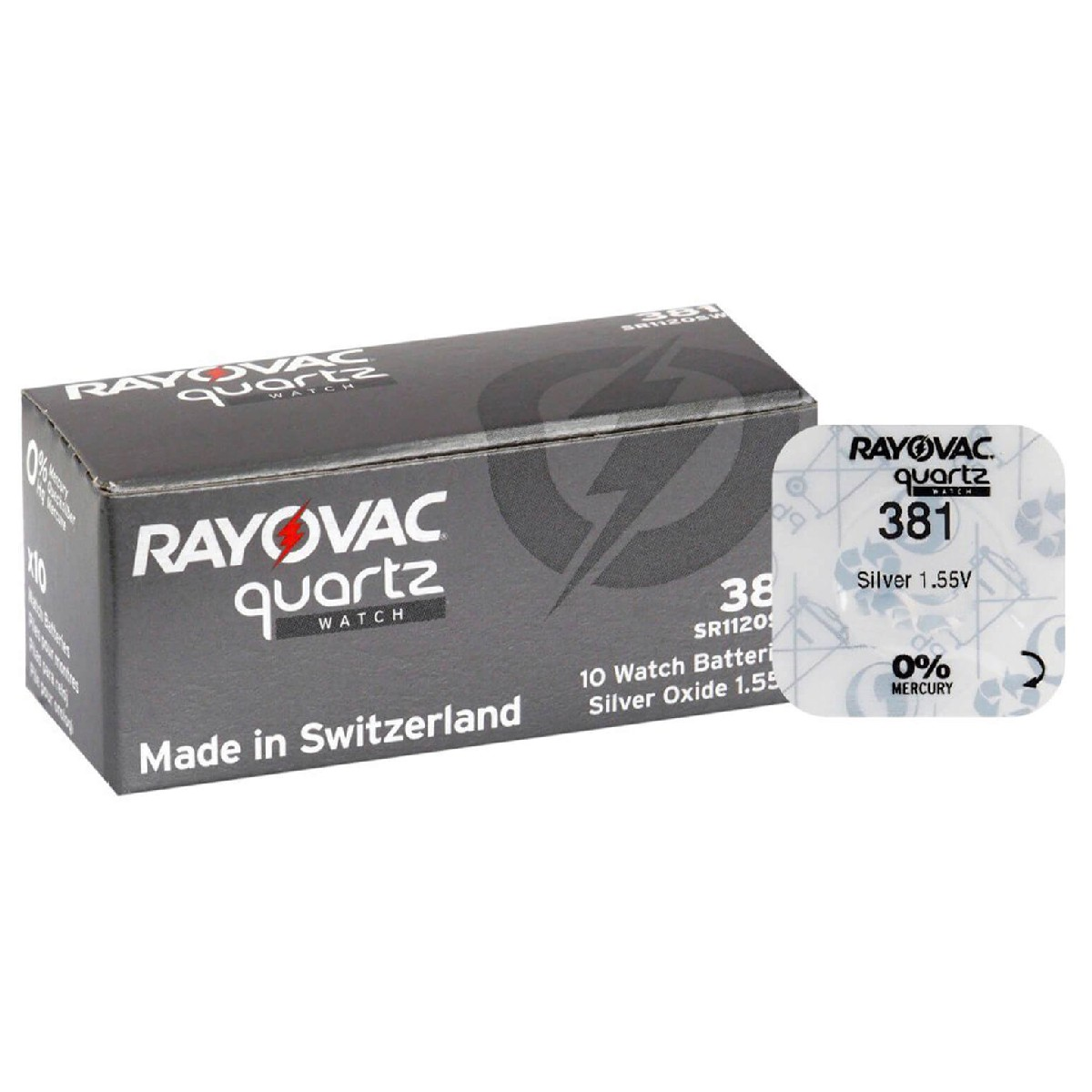 Buttoncell Rayovac 381 SR1120SW, 391 Τεμ. 1