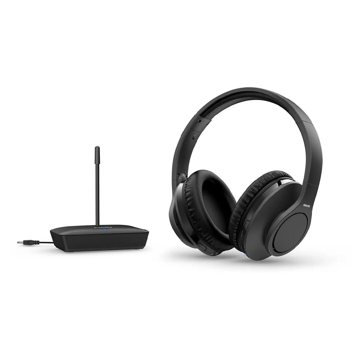 Ασύρματα Ακουστικά Stereo Philips TAH6005BK/10 Μαύρο για Τηλεοράσεις και Ηχοσυστήματα 20 mW 3,5mm 100μ Εμβέλια