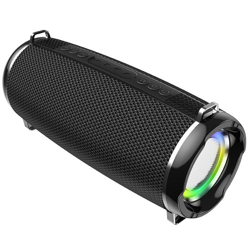 Φορητό Ηχείο Wireless Hoco HC2 Xpress TWS Μαύρο V5.0 2X5W, 2400mAh, IPX5, Μικρόφωνο, FM, USB & AUX θύρα, Micro SD και LED Φωτισμό
