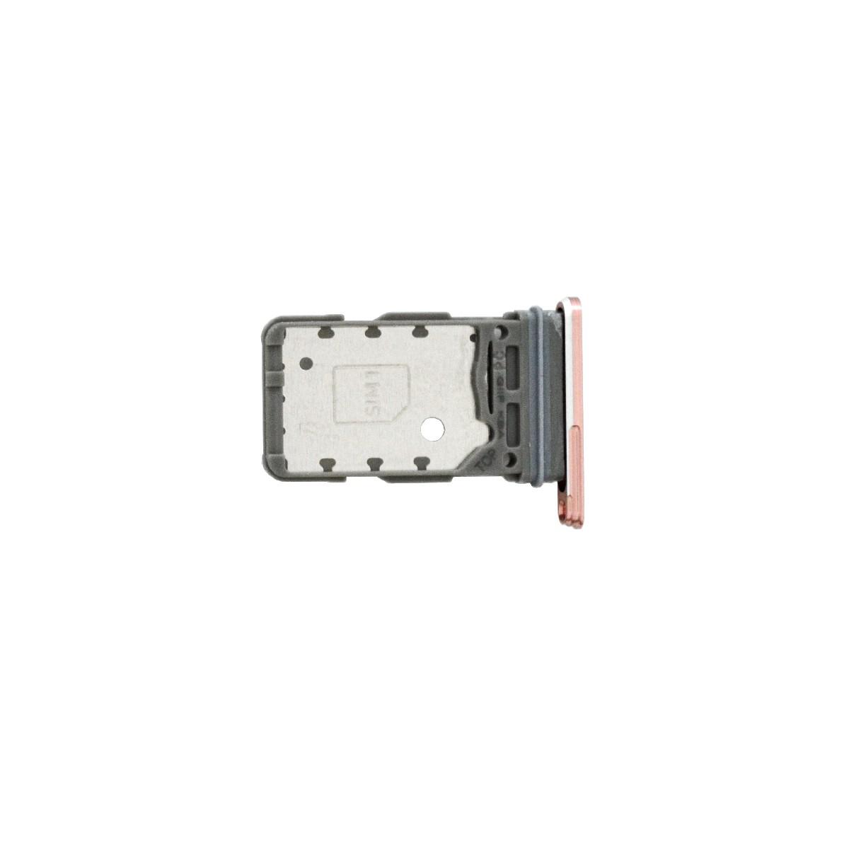 Βάση Κάρτας Sim Samsung SM-G991B Galaxy S21 5G Ροζ Original GH98-46193D