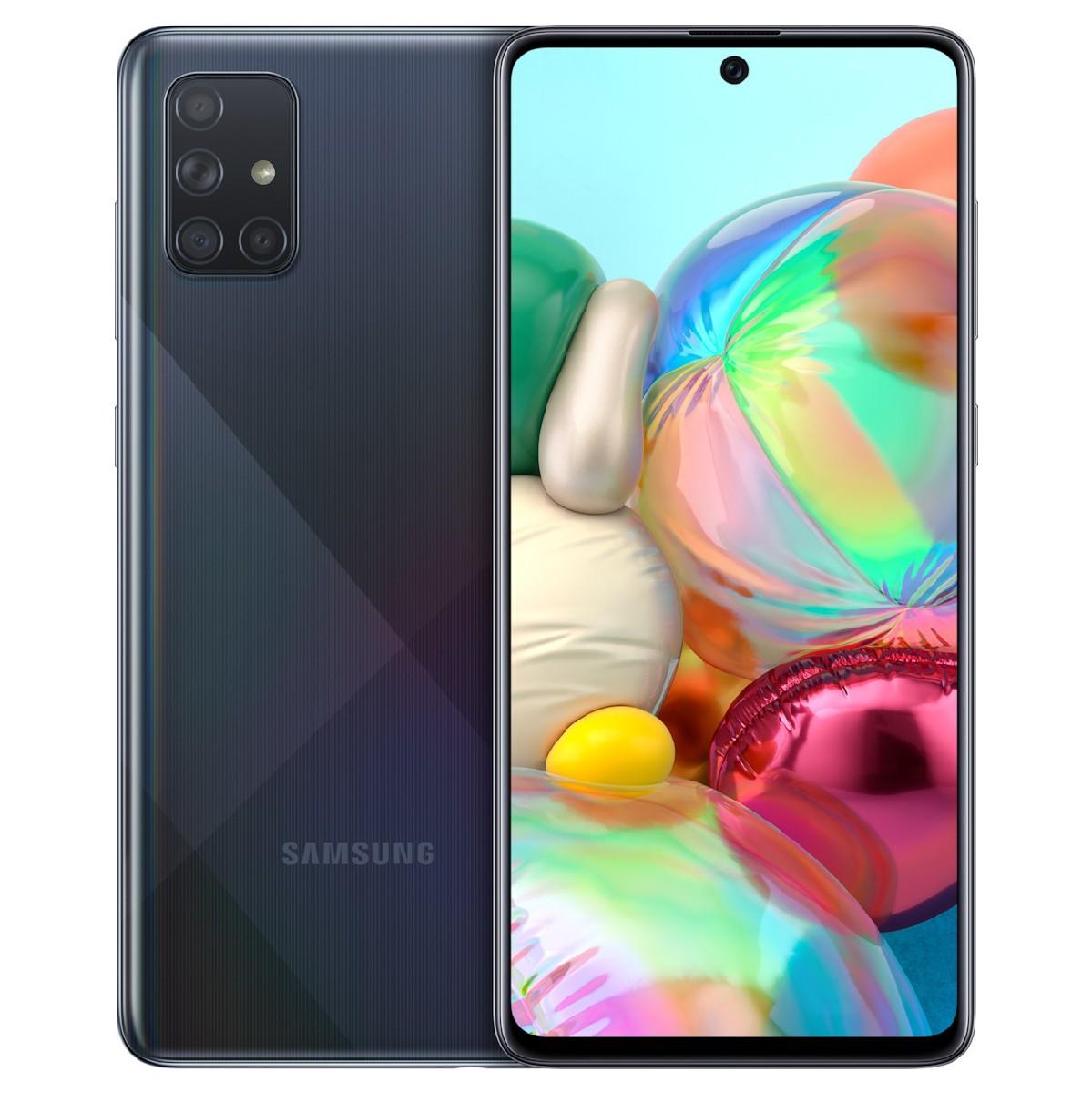 Samsung SM-A715FDS Galaxy A71 4G Dual Sim 6.7'' NFC 6GB/128GB Μαύρο
