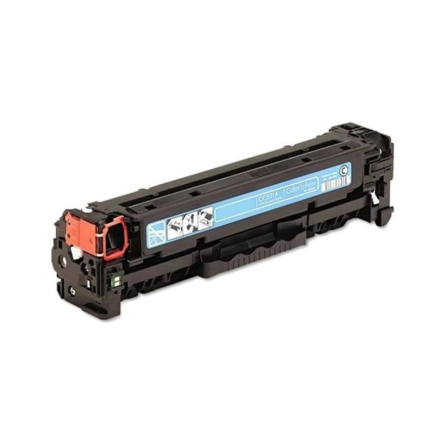 Toner HP CANON Συμβατό CC531A/CE411A/CF381A CRG-718 CRG-118 Σελίδες:2800 Cyan για Color LaserJet Pro 300, Color LaserJet Pro 400