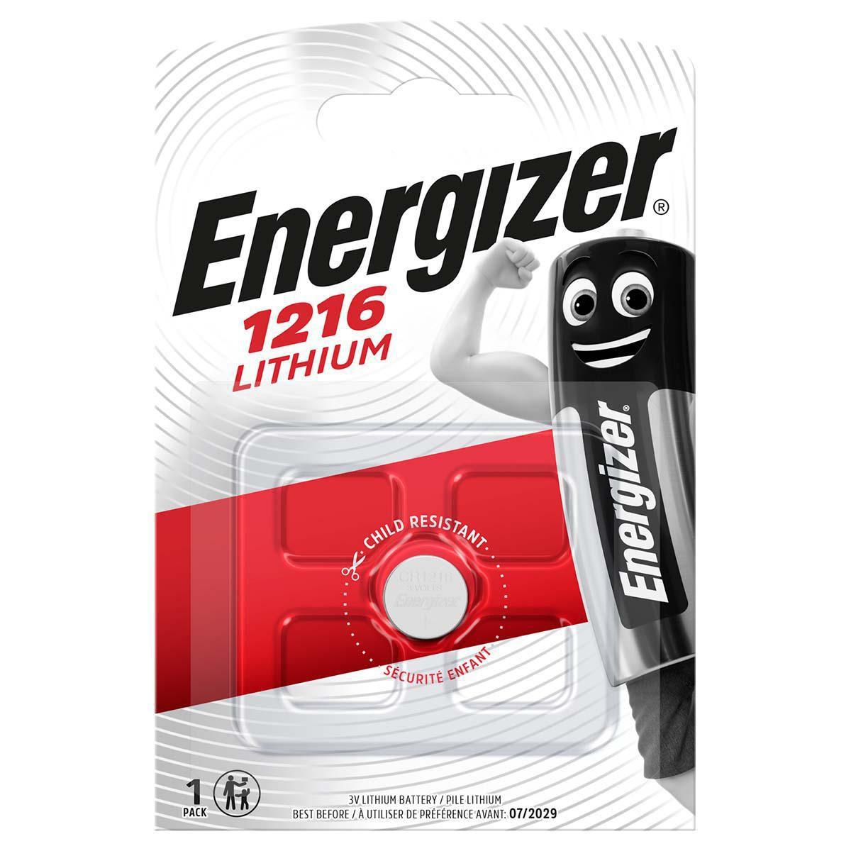 Buttoncell Energizer Lithium CR1216 Τεμ. 1