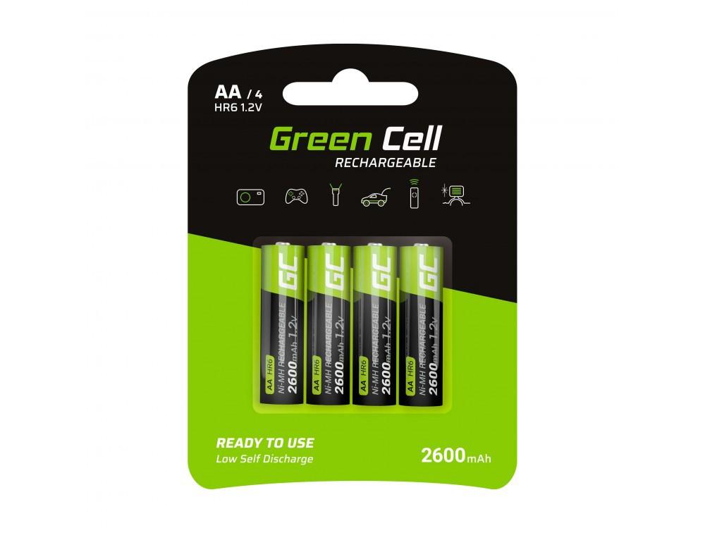 Μπαταρία Επαναφορτιζόμενη Green Cell GR01 HR6 2600 mAh size AA 1.2V Τεμ. 4