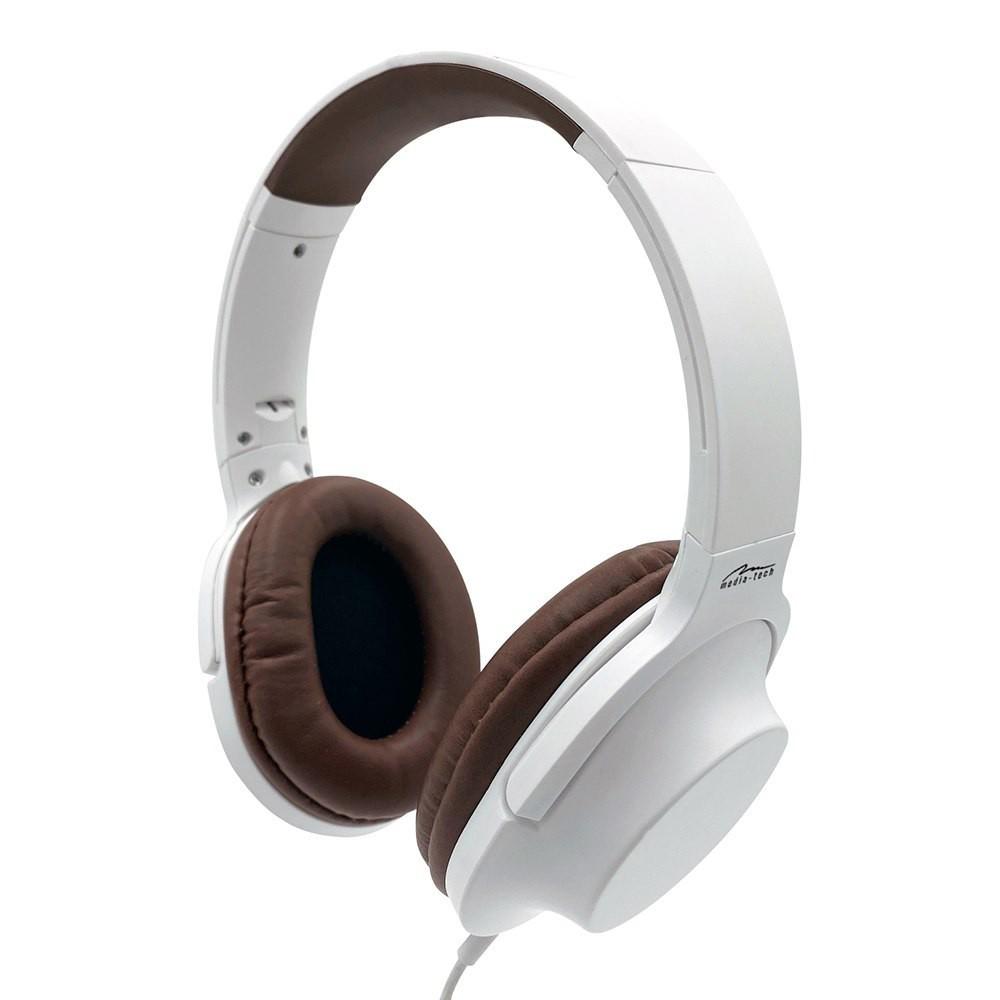 Ακουστικά Stereo Media-Tech MT3604 Delhpini 3.5mm Λευκά με Μικρόφωνο και Πλήκτρο Ελέγχου