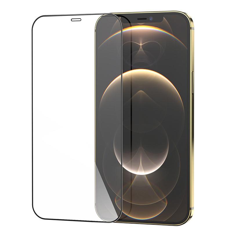 Tempered Glass Hoco G5 0.33mm Full Silk Screen HD 2.5D για Apple iPhone 12 Mini Μαύρο